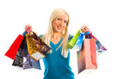 Women with shopping bags — Stock fotografie