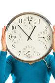 Ragazza con orologio — Foto Stock