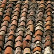 Tiled roof texture — Stock Photo
