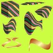 Sada geometrických tvarů — Stock vektor