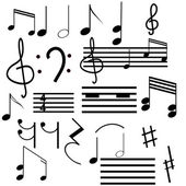Collection of musical symbols — Stock Vector