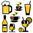 Royalty-Free Stock Vector Image: Icons beverages