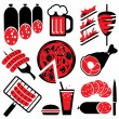 Icons barbecue — Stock Vector