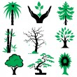 Icons trees — Stock Vector #2738373