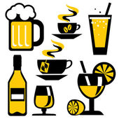 Icons beverages — Stock Vector