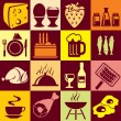 Food and beverages — Imagen vectorial