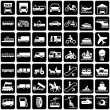 Stock Vector: Symbols transports