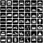 Symbols transports — Stock Vector #2829285