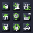Stok Vektör: Environment icons