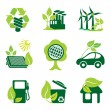 Environment icons — Stockvectorbeeld