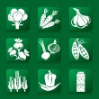 iconos de verduras — Vector de stock