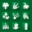 Vegetables icons — Stock Vector