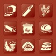 Stockvektor : Bread icons