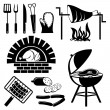 Barbecue icons — Stockvectorbeeld
