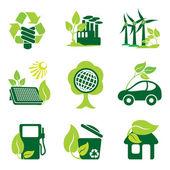 Environment icons — Stock Vector