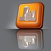 Skyscrapers button — Stock Vector