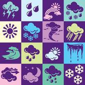 Väder bakgrund — Stockvektor