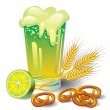 Vector de stock : Green beer