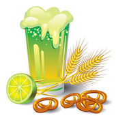 Green beer — Stockvector