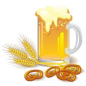 Yeşil bira — Stok Vektör