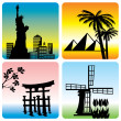 Stock Vector: Travel landmark