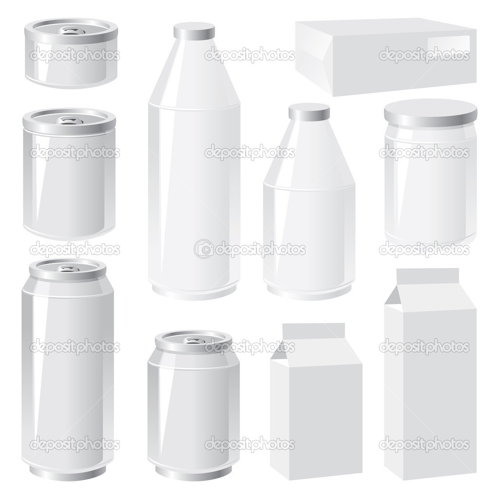 Set of vector images of packing containers  Stock Vector #3190172
