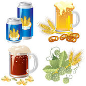 Bier-set — Stockvektor