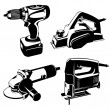 Power tools - Stock Vector