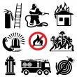 Stock Vector: Fire safety