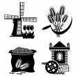 Mill icons — Stock Vector
