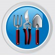 Royalty-Free Stock Vector Image: Garden tools icon