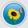 Sunflower icon — Stock Vector #3760212