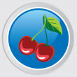 Cherry icon — Stock Vector