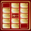 Calendar 2011 - Vettoriali Stock 