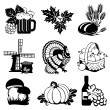 Autumn icons — Stock Vector