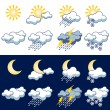Icons weather - Stock Vector