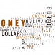 Stock Photo: Money wordCLOUD