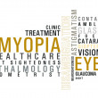 Eye disease word cloud — Stock Photo