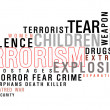 Terrorism word cloud — Stock Photo