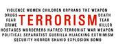 Nube de palabra terrorismo — Foto de Stock