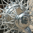 Stock Photo: Wheels spokes