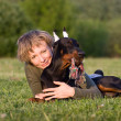 Woman and dog — Stock Photo #3161304