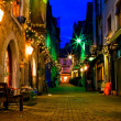 Stock Photo: Old Galway city street at night