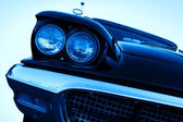Vintage car with chromium-plated headlight — Stock Photo
