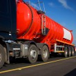 Fuel Truck in motion, detail — Stock Photo