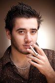 Smoking man — Stock Photo
