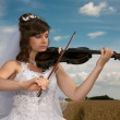 Royalty-Free Stock Photo: Bride & violin