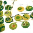 Ornaments from polymer clay - Stock Photo