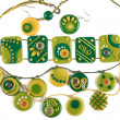 Ornaments from polymer clay — Stock Photo