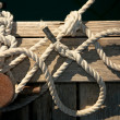 Rope for mooring - Stock Photo
